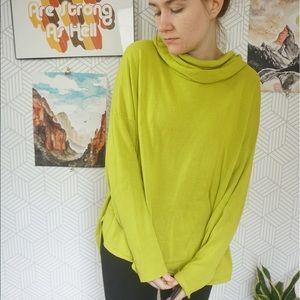 Bryn Walker Green long sleeve cowl neck sweater